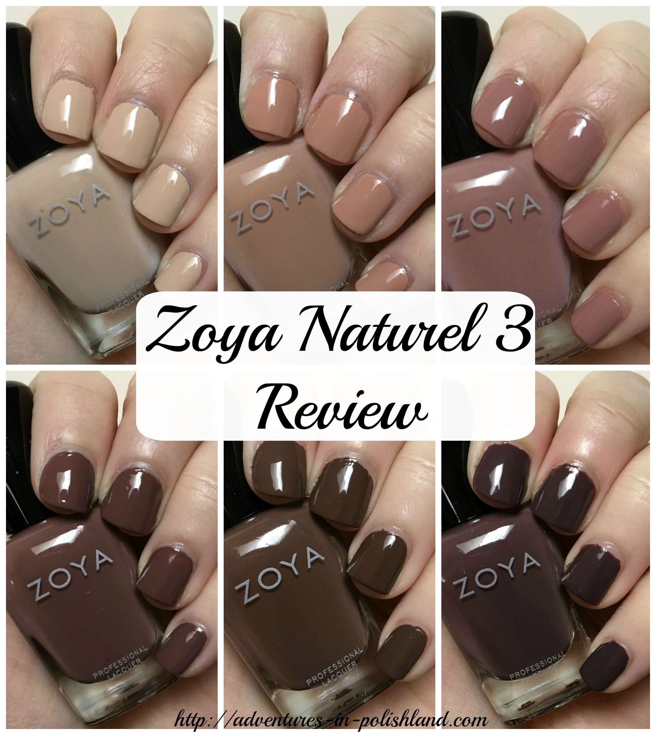 Zoya Nail Polish Naturel 3 Collection | Swatches & Review ...