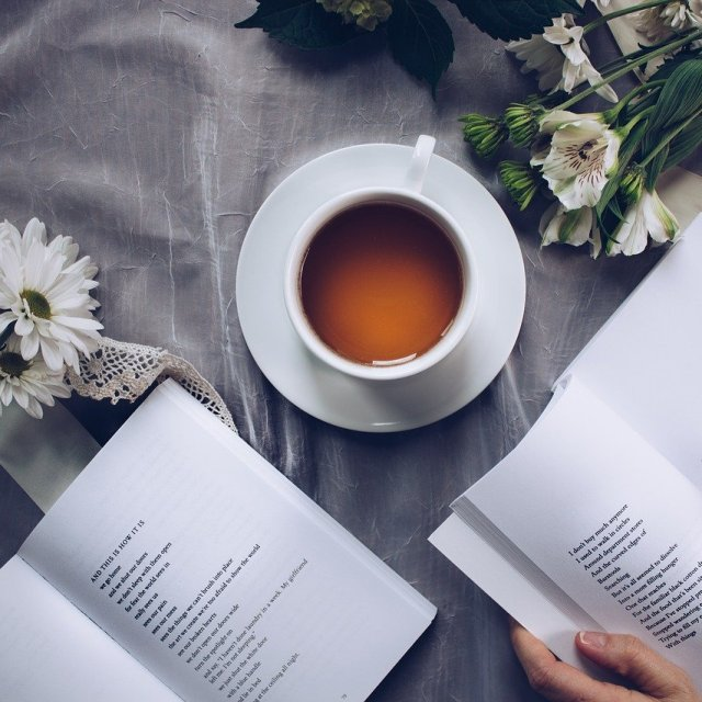 tea time, poetry, coffee