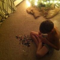 Preparing to hide the treasure