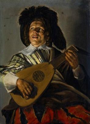 Serenade, 1629, oil on pane