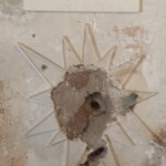 Bullet Hole In Lincoln County Courthouse