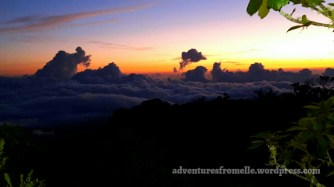 Sunrise above the clouds at Blue Mountain Peak, Portland, Jamaica