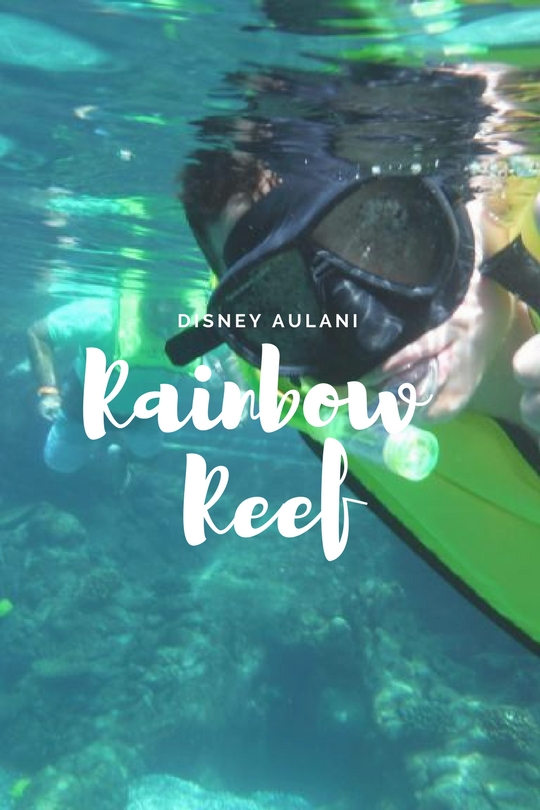 Disney Aulani's Rainbow Reef is a saltwater lagoon. A magical place where you can swim with thousands of tropical fish, from Butterflyfish, angelfish,