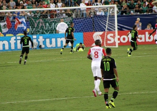 Check out this awesome safe from the goalie, Guillermo Ochoa.