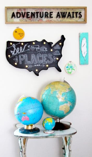 Travel Inspired Gallery Wall - HMLP 50 Feature