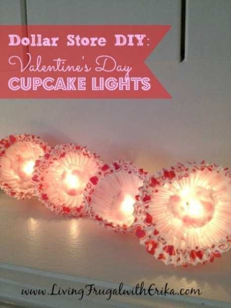 DIY Valentine's Day Cupcake Lights - Living Frugal With Erika - HMLP 70 Feature