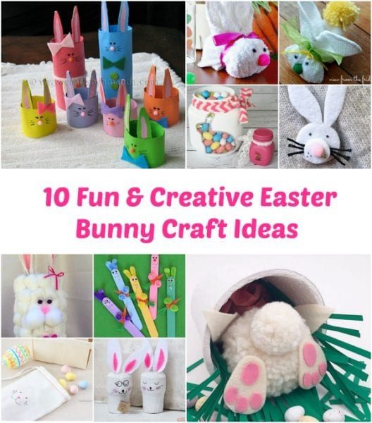 10 Fun Creative Easter Bunny Craft Ideas Adventures Of Frugal Mom
