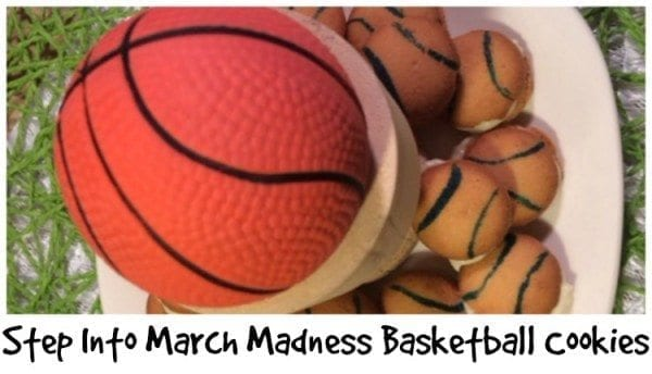 March Madness Basketball Cookies