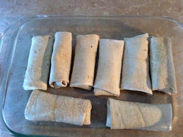 quick and easy burrito casserole in dish