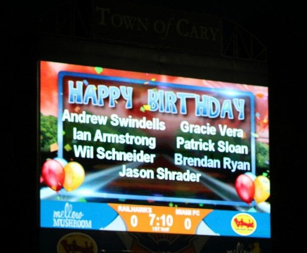 Gracie's name in lights
