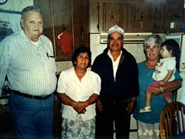 My parents with my inlaws. Mama Lucita is shortest one.