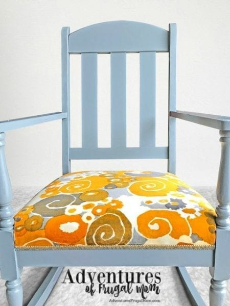 Chair painted before cushion