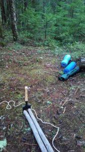 setting up the tipi base