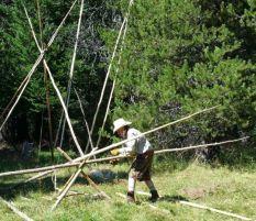 Skinning poles