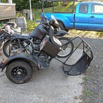 KLR sidecar disassembled