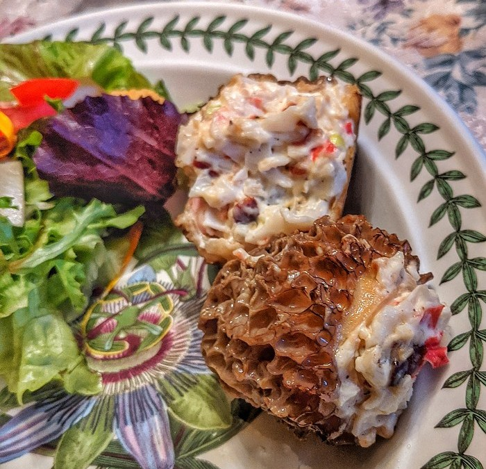Crab-Stuffed Morels