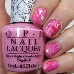 Tutorial Tuesday Opi Hello Kitty Collection Dry Marble Nail Art Adventures In Acetone