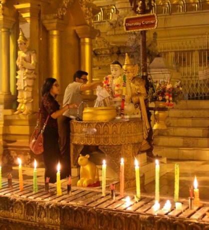 Planetary post in Shwedagon Pagoda, Myanmar