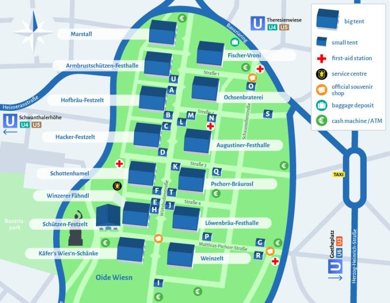 Oktoberfest grounds map