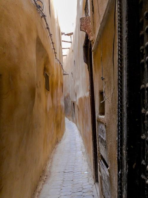 narrow lane, medina of Fez, Morocco