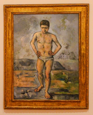 Cezanne, The Bather, MoMa, NYC