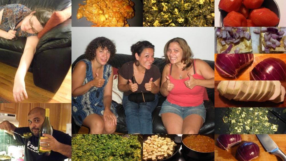 Desi Dinner Party and Dish #14 - Eggplant Chana Masala