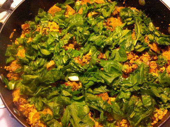 Dish #15 - Indian-Style Tofu Scramble (3/4)