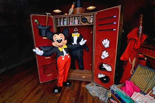 Mickey Mouse in his Dressing Room
