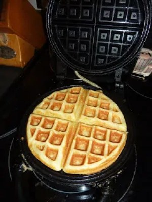 Belgian Waffle in Waffle Maker
