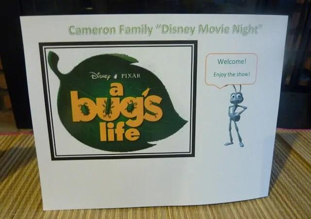 """A Bug's Life"" Family Movie Night"