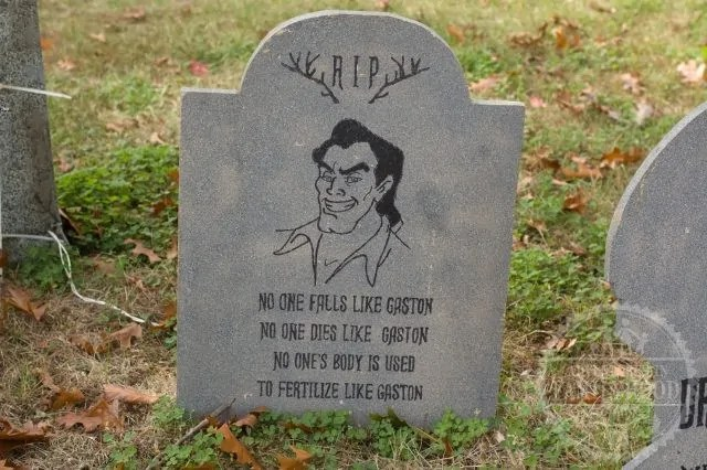 Finished Gaston tombstone on my lawn
