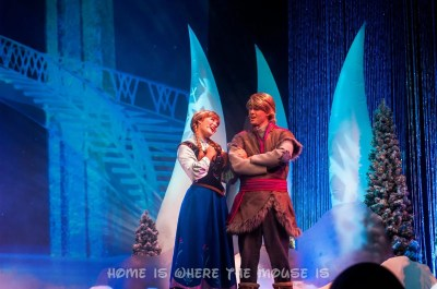 Anna and Kristoff at First Time in Forever Frozen Sing-Along Celebration