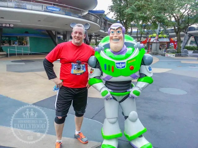 Buzz Lightyear Photo Op Magic Kingdom 2014 Walt Disney World Half Marathon
