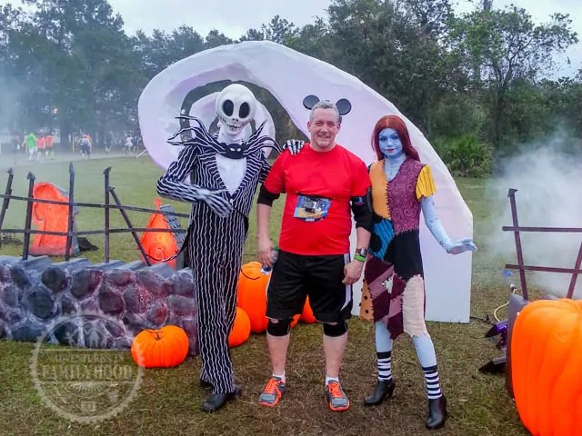 Jack Skellington and Sally Photo Op during 2014 Walt Disney World Half Marathon