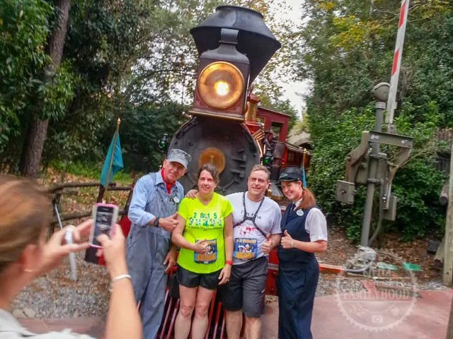 Walt Disney World Railroad Photo Op during 2014 Half Marathon