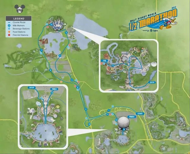 2014 WDW Half Marathon Course Map