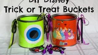 DIY Disney-themed Trick or Treat Buckets