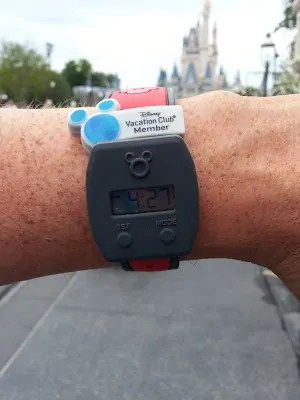 Wearing the MagicBand Watch Slider in Magic Kingdom