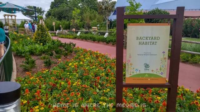 Backyard Habitat Garden at the Epcot International Flower & Garden Festival