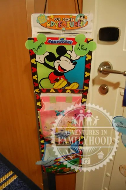 Homemade Fish Extender made from a shoe organizer and gift bags