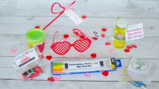 Super Easy Non-Candy Dollar Store Valentines with Printables