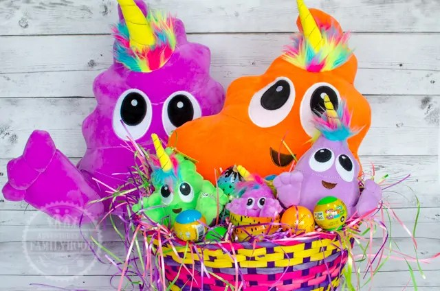 Poonicorns Easter Basket with Plushiez Droplings and Squishiez