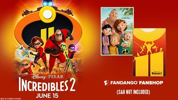 Incredibles 2 Tickets Now on Sale – Free Poster and Movie Ticket Offers