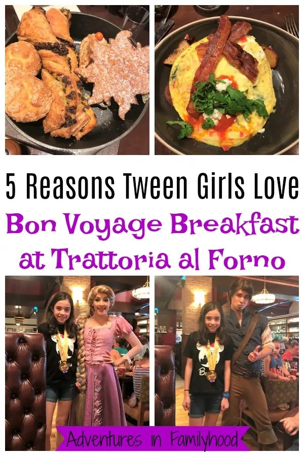 5 Reasons Tweens Love Bon Voyage Breakfast at Trattoria al Forno