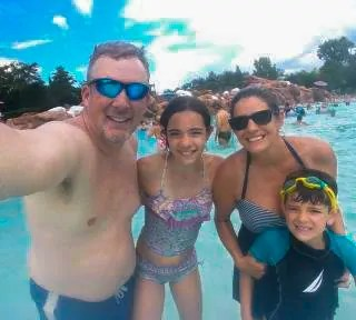 Family Photo at Disney's Blizzard Beach