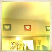 All hearts framed and hung