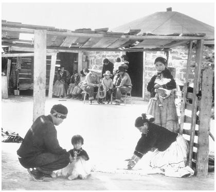 Navajo family domestic scene 1939.