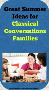 Great Summer Ideas for Classical Conversations Families