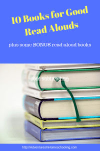 10 Books for Good Read Alouds (plus some bonus read loud books)