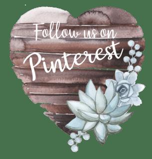 Follow Us on Pinterest Wooden Heart Sign